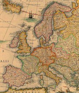 Mapa de los Reinos de Europa