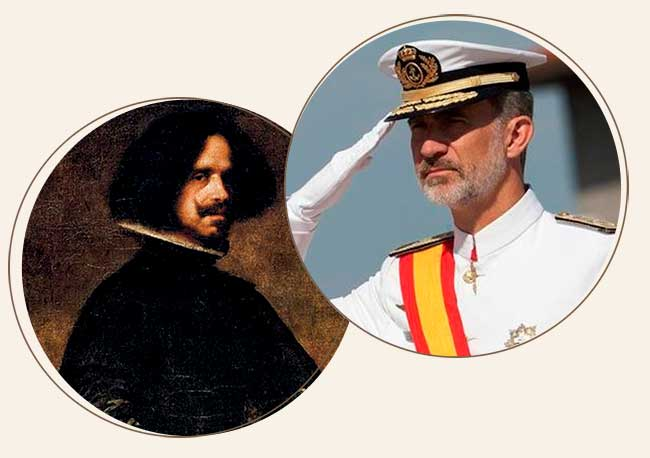 Velázquez descendiente de Felipe VI